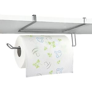 Wall Mounted Under Shelf Cabinet Kitchen Roll Holder Paper Towel Dispenser