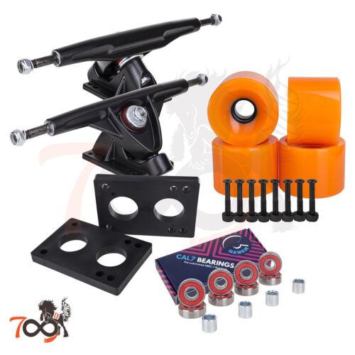 Cal 7 Longboard 180mm Black Trucks, 70mm Wheels + Bearings Combo Set