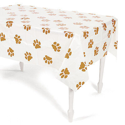 Puppy Party Plastic Tablecover Tablecloth Birthday Dog Event Pet Paws Convention - Puppy Party Supplies