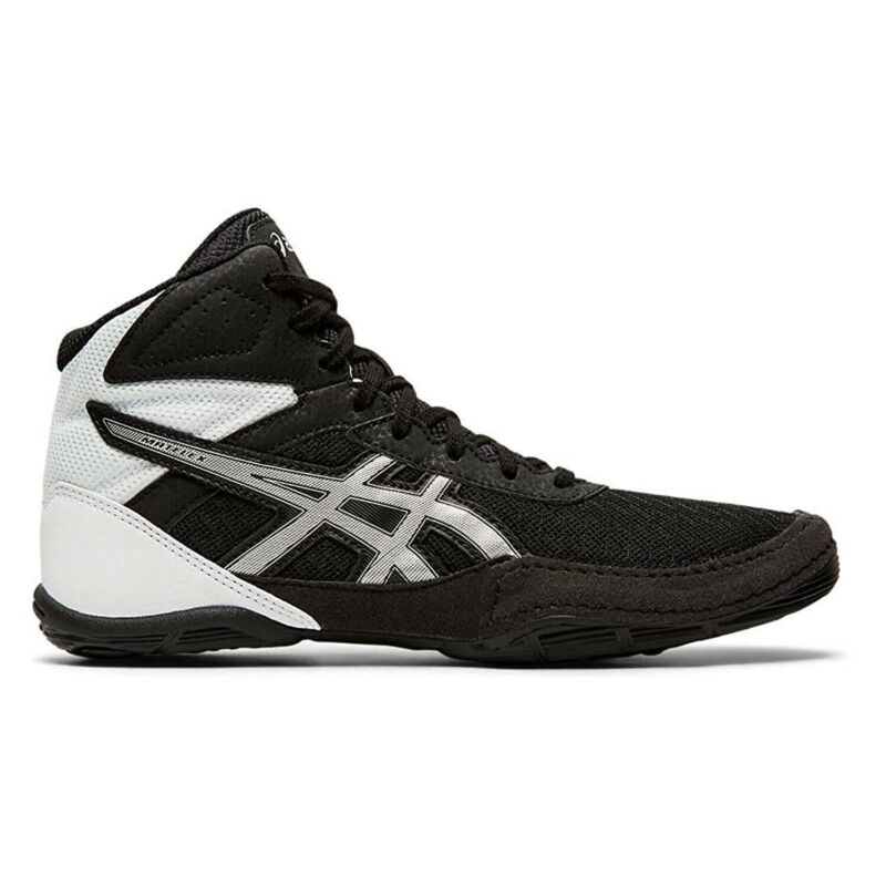 Asics Youth Matflex 6 Gs Wrestling Shoes Black/Silver 3.5 (1084A007-001)