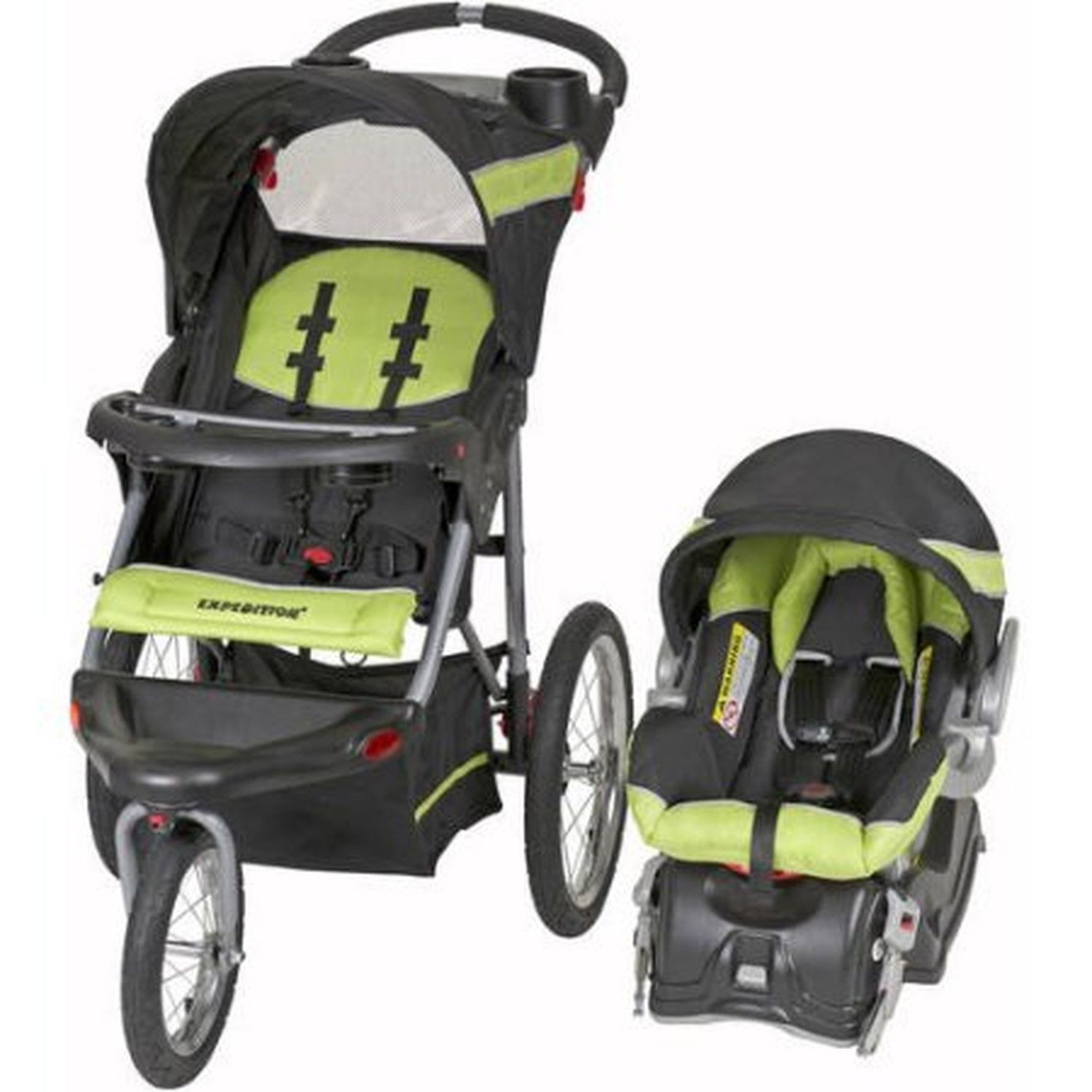 Изображение товара Baby Trend Expedition Jogger Travel System 3in1 Stroller Car Seat Electric Lime