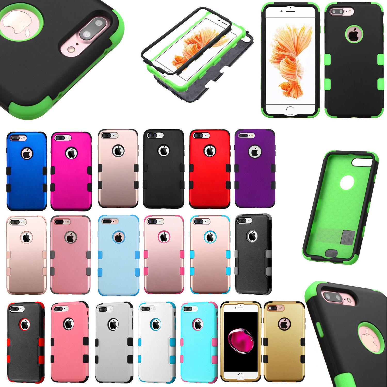 For Apple iPhone 7 & 7 PLUS IMPACT TUFF HYBRID Protector Cas