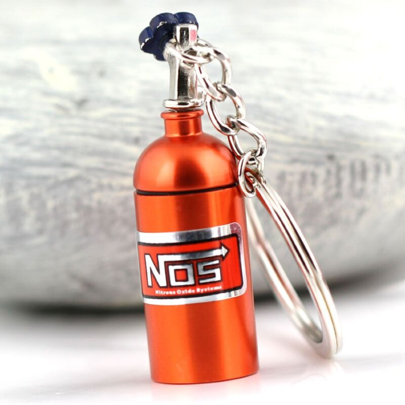 Orange NOS Bottle key chain With Container Pocket!  USA Ship