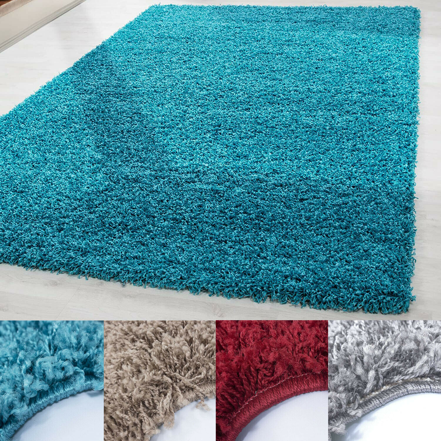 SHAGGY RUG BRILLIANCE SOFT PILE SMALL EXTRA LARGE NEW MODERN NON-SHEDDING CARPET