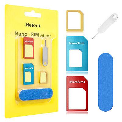Helect SIM Card Adapter 5-in-1 Nano & Micro SIM Card Adapter
