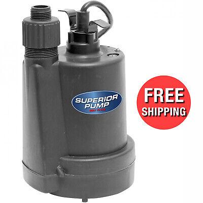 Superior Pump 91250 1/4 HP Plastic Utility Pump