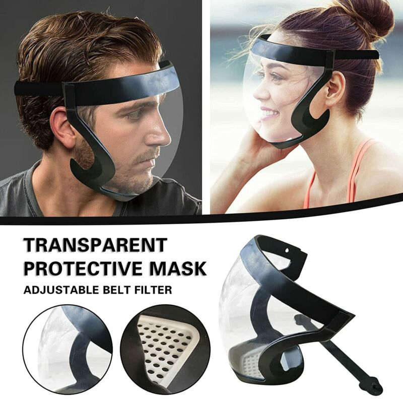 Anti-fog Full Face Shield Super Protective Head Cover Transparent Safety Mask US
