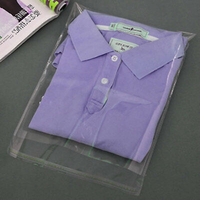 """200 9x12"""" Clear cellophane cello garment bags self seal for T-Shirts clothes"""