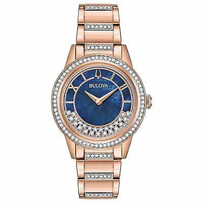 Bulova 98L247 Women's Crystal Turn Style White Quartz Watch