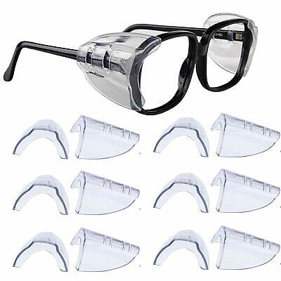 4 Pair Safety Eye Glasses Side Shields Clear Flexible Slip On - Small Medium
