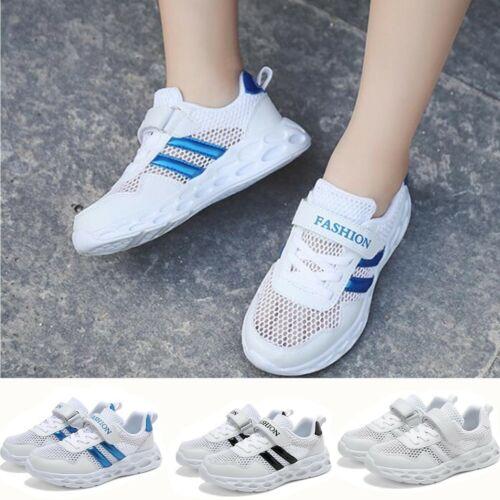 Junge Mädchen Sportschuhe Mesh Atmungsaktiv Student Kinderschuhe Sneaker Weiß