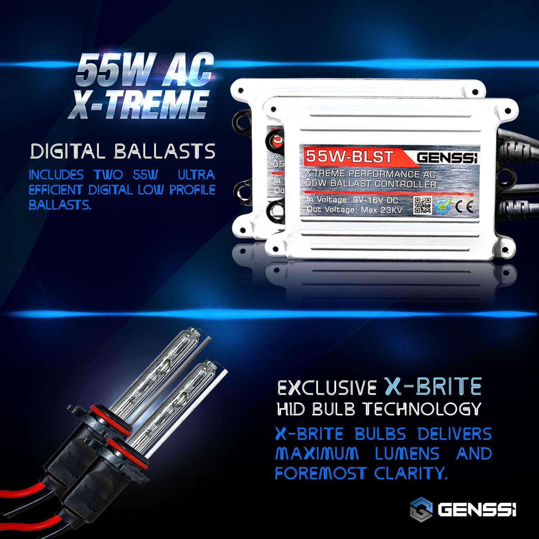Xentec HID XENON 55W Headlight Hi Low Kit H4 H7 H11 H13 9003 9004 9005 9006 9007