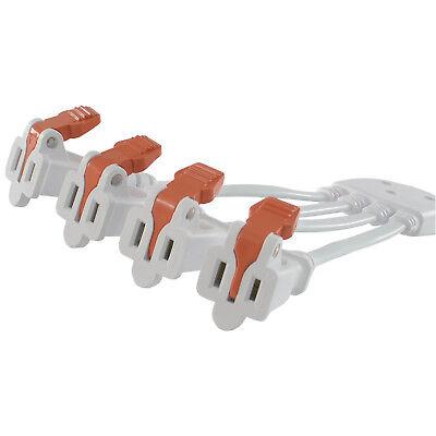 Conntek 03411 NEMA 1-15 to (4) NEMA 1-15R Two Prong Household Outlet Splitter