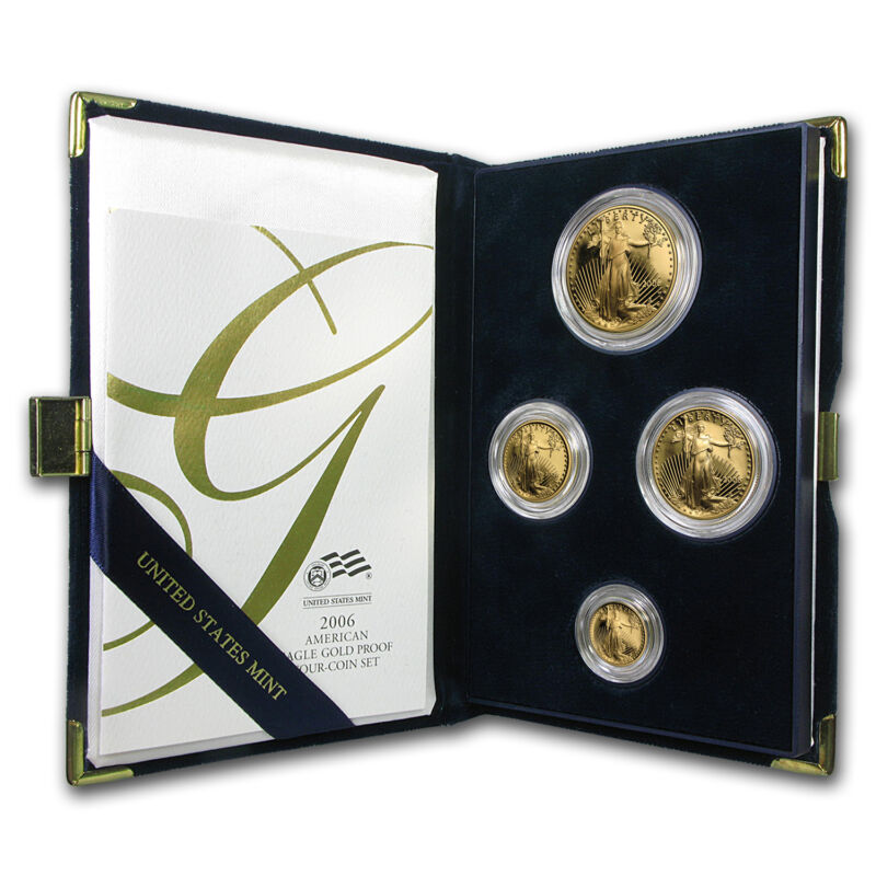 2006-w 4-coin Proof Gold American Eagle Set (w/box & Coa) - Sku #13141