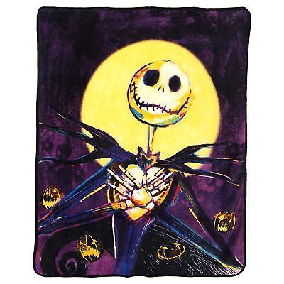 Nightmare Before Christmas Halloween Jack Pumpkin Delight King Blanket Plush - Halloween Pumpkin Nightmare Before Christmas