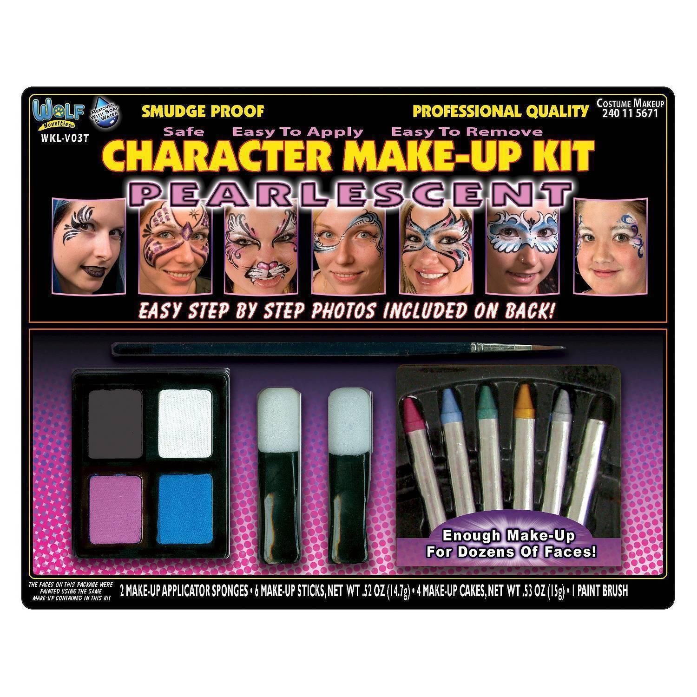 Family Face Painting Fasching Schminke Karneval Make Up Set Kit mit Anleitung