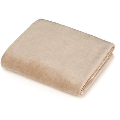 (TL Care Fitted Velour Bassinet Sheet Made With Organic Cotton, Mocha NEW)