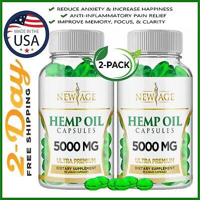 premium extract natural hemp oil capsules 5000