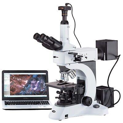 Amscope 50x-1500x Darkfield Polarizing Metallurgical Microscope 1.3mp Camera
