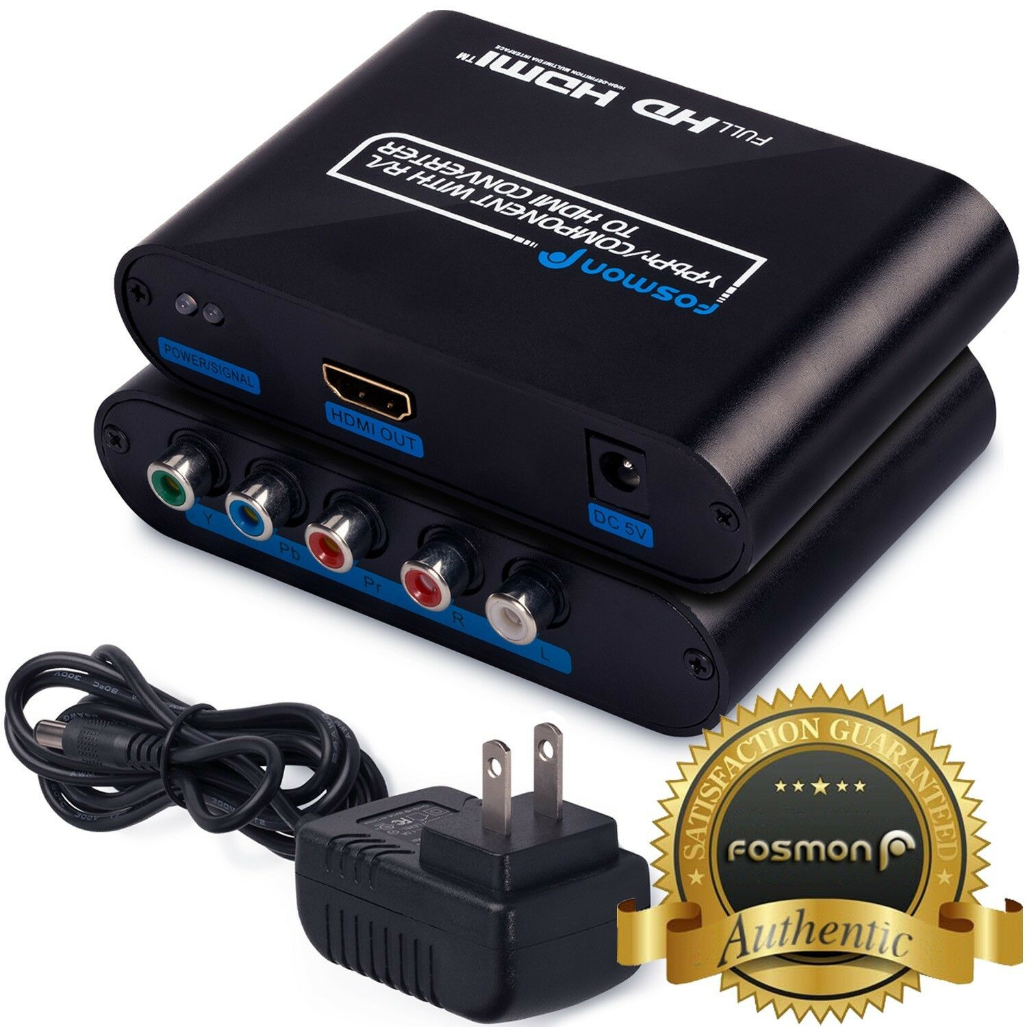 Rgb Rca Component To Hdmi Av Converter Adapter Box For Vh...