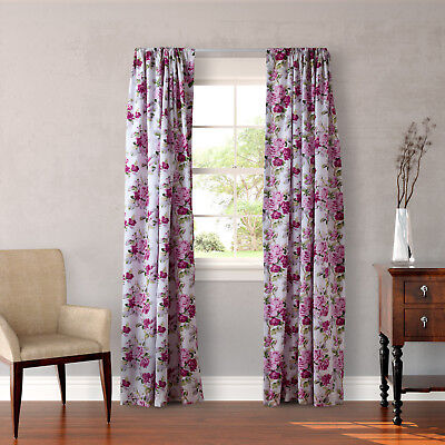 Laura Ashley Lidia 4-piece Lined Curtain Panel Set - 54 x 84 (Laura 4 Piece)