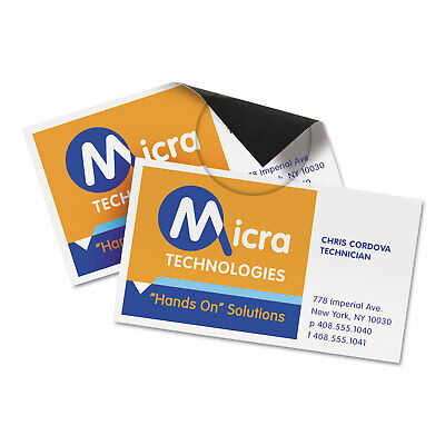 Avery Magnetic Business Cards 2 X 3 12 White 10sheet 30pack 8374