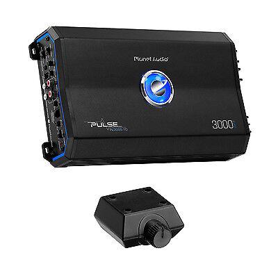 Planet Audio Pulse 3000W 1 Ohm Monoblock Class D Amplifier + Remote | PL3000.1D