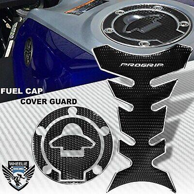 Chrome+Black Gas Tank Fuel Cap Cover Protector Pad for Yamaha YZF R1//R6//FZ//FZR