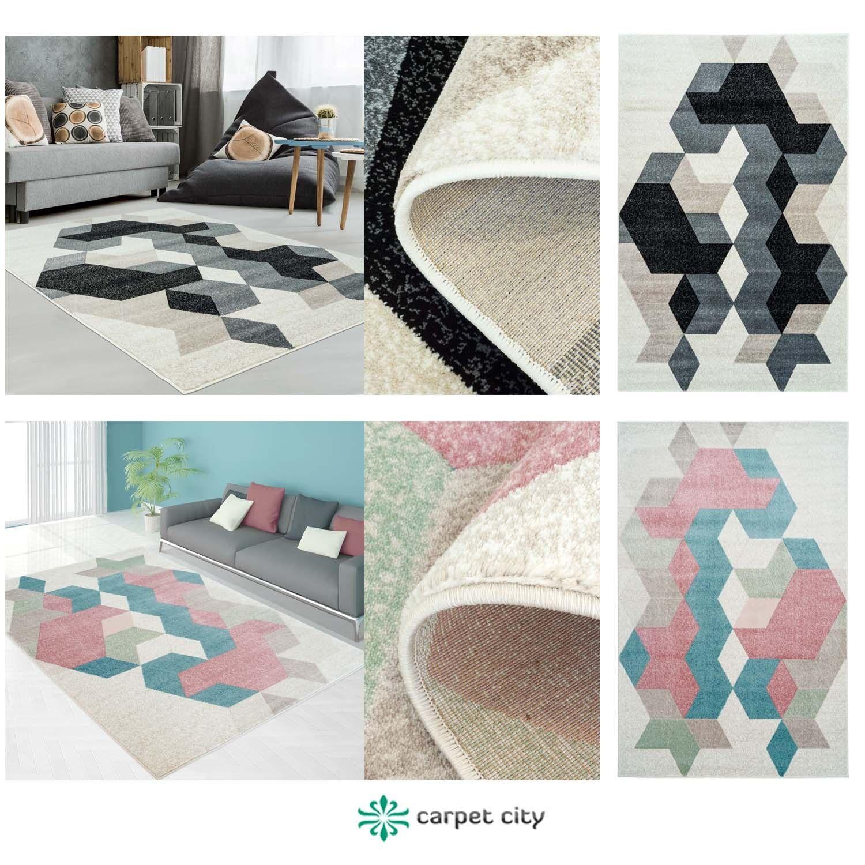 Teppich Modern Designer Wohnzimmer Inspiration Fasson Mosaik Pastell Blau  Grau