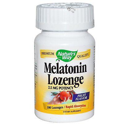 NATURES WAY Melatonin Lozenge 2.5 mg Rapid Absorption Fruit Flavor 100 Lozenges 2.5 Mg 100 Lozenges