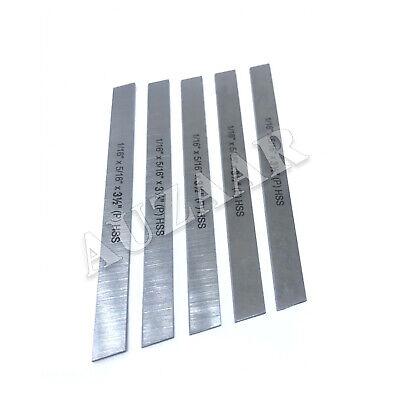 5 Pcs Cut Off Blade 116x 516 X 3-12 M2 Hss Hardened Ground Parting Tool
