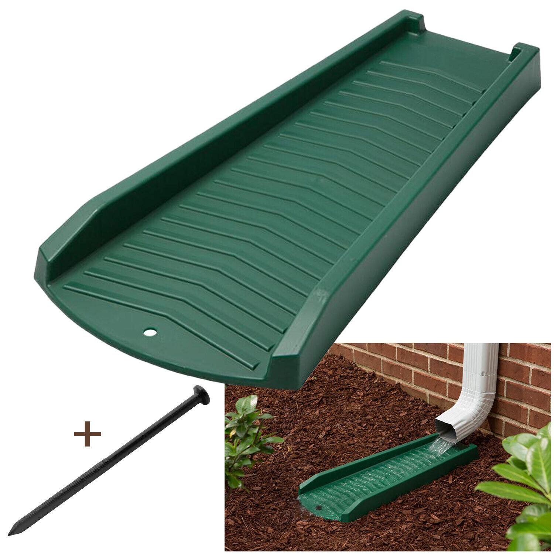 2 or 4 Pack Decorative Downspout Green Splash Block Rain Gutter Drain Extend Building & Hardware