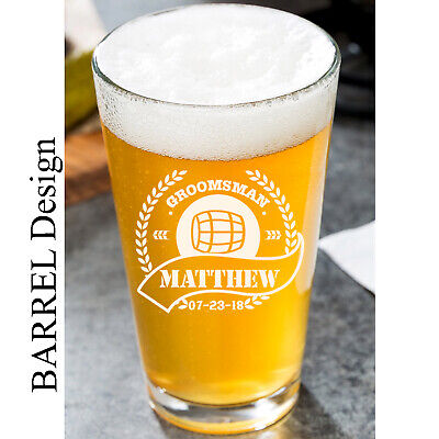 Personalized Pint Glass 16oz (16 Oz Pint)