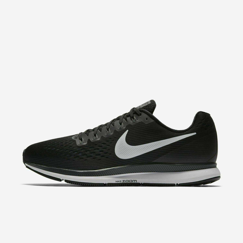Nike Air Zoom Pegasus 34 Black White Dark Grey 880555-001 Men's Running Shoes