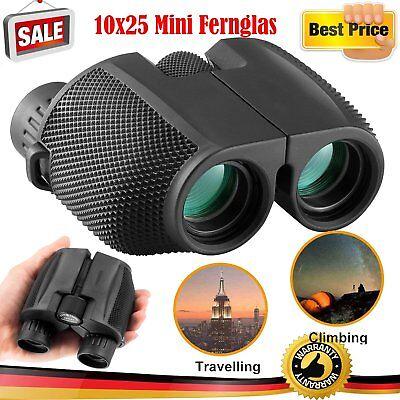 Fernglas 10x25 Mini klein Binocular Erwachsene Handlich Wasserdicht Faltbar