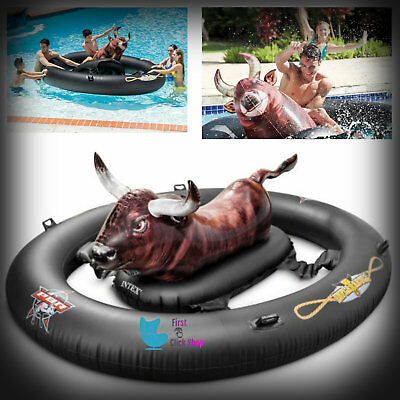 Bull Riding Inflatable (Inflatable Float Toy Fun Bull Riding Swimming Games Pool Water Giant)