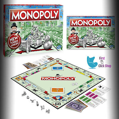 Monopoly Game Board Original Classic Edition Traditional Family Game Eight Token