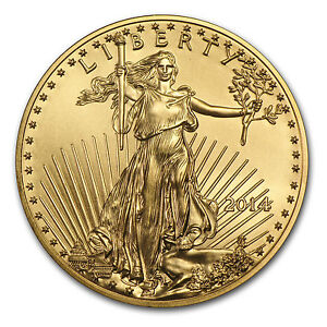 2014 1 oz Gold American Eagle Coin - Brilliant Uncirculated - SKU #83880