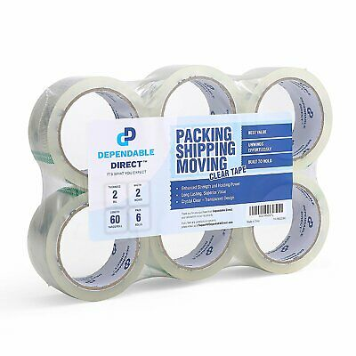 Industrial Grade Clear Packing Tape 6 Rolls 60 Yards per Roll2