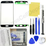 Samsung Galaxy S7 Edge G935 -Black- Front Glass Lens Screen Replacement Kit