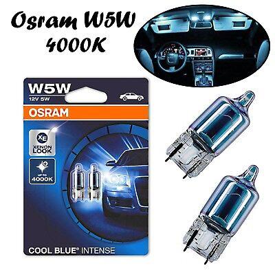 Kurven 3 Glühbirnen (2x Osram W5W 12V 2825HCBI-02B Blau Xenon Look Positions- und Standlicht Lampe)