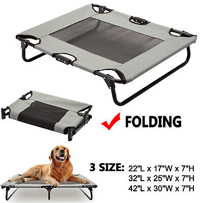 Pet Sleeper - Elevated Pet Cot Dog Bed Raised Camping Sleeper Cooling Mesh Summer Textilene XL