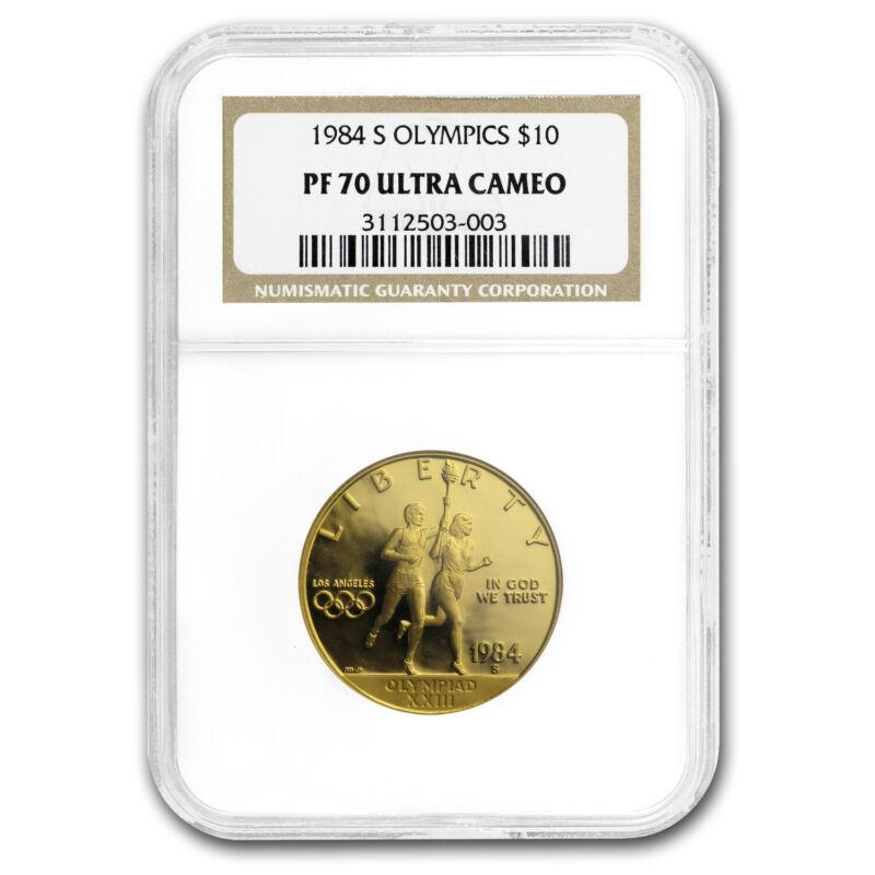 1984-S Gold $10 Commem Olympic PF-70 NGC - SKU#161347