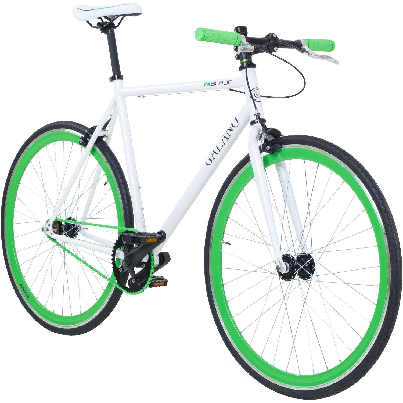 "Singlespeed 700c Fixie Bike retro Fahrrad Fitnessbike Galano Blade 28"" Rennrad"