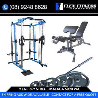 Commercial Smith Machine, Utility Bench and 100kg Olympic Package Malaga Swan Area Preview