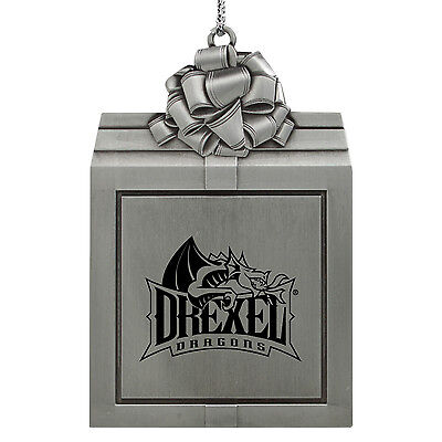 Drexel University  Pewter Christmas Holiday Ornament Silver