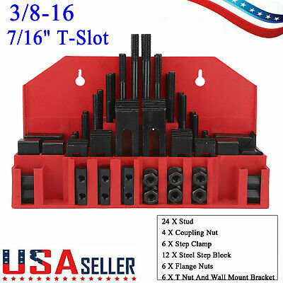 58 Pcs Pro-series 716 T-slot Clamping Kit Mill Machinist Set Up Set 38-16 New