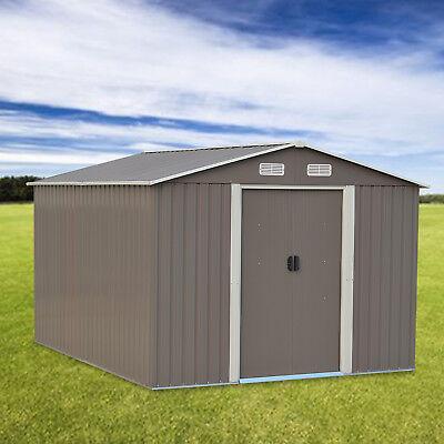 8'X10'Outdoor Steel Garden Storage Utility Tool Shed Backyard Lawn Building