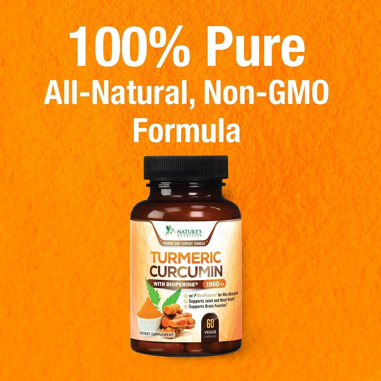 Turmeric Curcumin Bioperine Black Pepper Capsules Pure Super