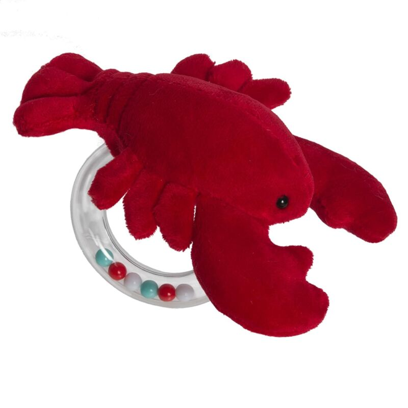 """Mary Meyer Lobbie Lobster Ring Rattle, 6"""""""